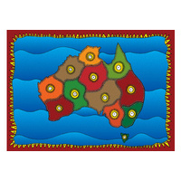 Aboriginal Recycled Door Mats - Assorted Set 5