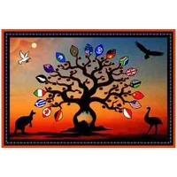 Aboriginal Recycled Door Mats - Australian People Welcome