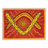 Aboriginal Recycled Door Mats - Boomerangs