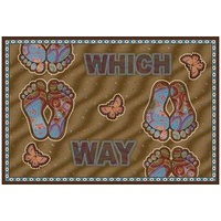 Aboriginal Recycled Door Mats - Which Way