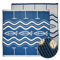 Aboriginal Recycled Mat - Large - Go Fish