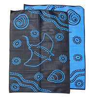 Aboriginal Recycled Mat - Medium - Manta Ray