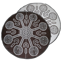 Aboriginal Recycled Mat - 2.7m Round - Honey Ants