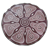 Aboriginal Recycled Mat - 2.7m Round - Witchetty Grub