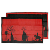 Aboriginal Recycled Mat - XXLarge - Boab Tree