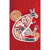 Koolbardi Aboriginal Art A5 Notepad - Kangaroo