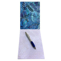 Utopia A5 Notepad - Fire Sparks (Blue)
