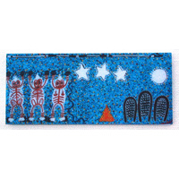 Better World Aboriginal Art Magnetic Bookmark - Milky Way Dreaming