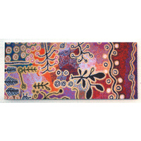 Aboriginal Art Magnetic Bookmark - Yam & Bush Potato Dreaming