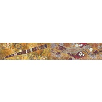 Koolbardi Aboriginal Magnetic Bookmark - Goanna & Didgeridoo