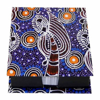 Utopia Aboriginal Art Boxed Notepad - Dancing Sisters