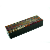 Lacquered Pencil Box - Ngalyipi Snake Vine Jukurrpa