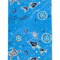 Aboriginal Wrapping Paper - Dolphin & Sea