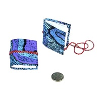 Handmade Aboriginal Art Paper Mini Notebook/Journal - Emu Dreaming
