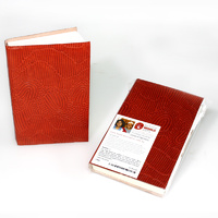 Handmade Paper Notebook (Leather Covered) - Sandhills