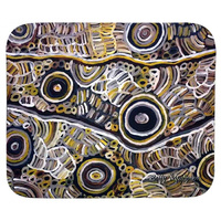 Utopia Aboriginal Art Neoprene Mousepad - My Mother's Story (Grey)