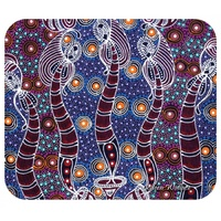 Utopia Aboriginal Art Neoprene Mousepad - Dancing Spirit