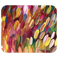 Utopia Aboriginal Art Mousepad - Leaves (Multi)