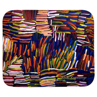 Utopia Aboriginal Art Neoprene Mousepad - Pencil Yam by Weida Kingwarreye
