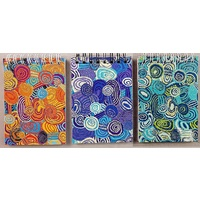 Jijaka Aboriginal Art Spiral Notebook Set (3)pk - Firestones