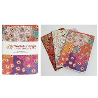 Warlukurlangu Aboriginal Art A6 Notepads (set 3)