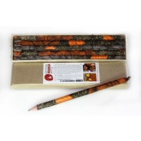 Handmade Paper Aboriginal Art Pencils (Set 5) - Sandhills