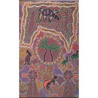 True Blue Aboriginal Art Small Notepad - Outback Travelling