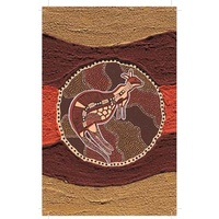True Blue Aboriginal Art Small Notepad - Sand Kangaroo