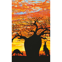 True Blue Aboriginal Art Small Notepad  - Boab Sunset
