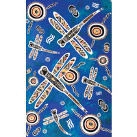 True Blue Aboriginal Art Small Notepad - Dragonfly Dreaming