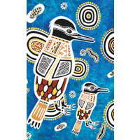 True Blue Aboriginal Art Small Notepad  - Kookaburra Dreaming