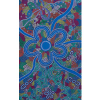 True Blue Aboriginal Art Small Notepad - Love & Marriage
