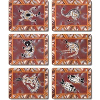 Jijaka Aboriginal Art Boxed Coaster Set (6) - Bush Dreamtime