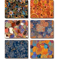 Jijaka Aboriginal Coaster Set (6) - Desert Tracks