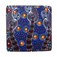 Utopia Aboriginal Art Neoprene Coaster (1) - Dreamtime Sisters