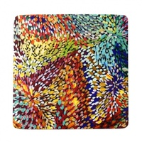 Utopia Aboriginal Art Neoprene Coaster (1) Firesparks