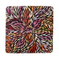 Utopia Aboriginal Art Neoprene Coaster (1) - Wildflowers
