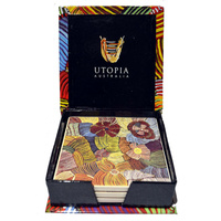 Utopia Aboriginal Art Boxed Ceramic Coaster Set (4) - Pencil Yam