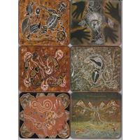 Yagali Aboriginal Art Coaster Set (6) - Peter Mulcahy