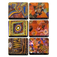Yijan Aboriginal Art Boxed Cork Coaster Set (6) - Dreaming Country
