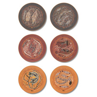 Oenpelli Aboriginal Art Boxed Round - Yijan Coaster Set (6)