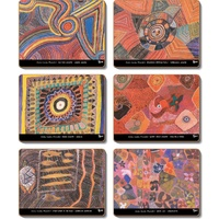 Yijan Aboriginal Art Boxed Coaster Set (6) - Waterlillies