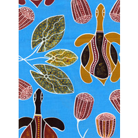 AusDesign Napkin Set (4)  - Freshwater Turtles