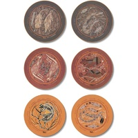 Yijan Aboriginal Round Cork Placemat Set (6) - Oenpelli Rock Art