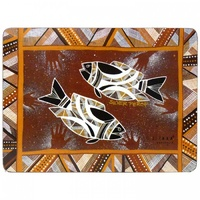Jijaka Aboriginal Art Cork Placemat/Coaster Set (6) - Bush Dreamtime
