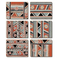 Jijaka Aboriginal Art Cork Placemat/Coaster Set (6) - Shield