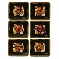 Jijaka Aboriginal Art Cork Placemat/Coaster Set (6) - Totem Country