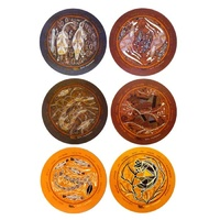 Yijan Aboriginal Art Cork Placemat/Coaster Set (6) - Oenpelli (Round)
