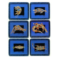 Yijan Aboriginal Art Cork Placemat/Coaster Set (6) - Rock Art