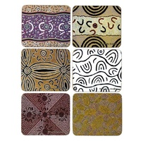 Yijan Aboriginal Art Cork Placemat/Coaster Set (6) - Travel Stories